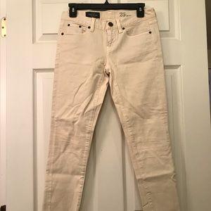 Jcrew Cream Toothpick Jeans